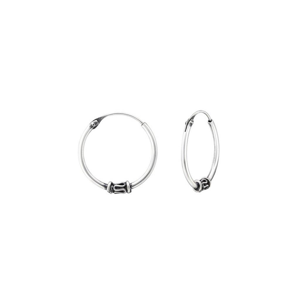 Polished And Nickel Free Bali 18Mm Bali Hoops 925 Sterling Silver Liara