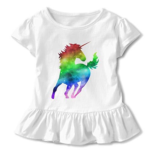 - Baby Girl Rainbow Galaxy Unicorn Extra Soft Long Sleeved T Shirts