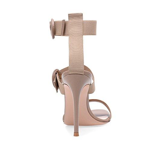 38 TLJ Femme Fête Club Boucle De Soirée Grande Haut 076 Apricot Mariage Pointu Transgenre Sexy Plateforme Taille Talon KJJDE Élastique Élastique Bout d1CwqXw