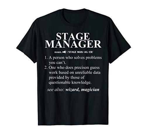 Funny Noun Stage Manager Definition T-Shirt Cool Gift
