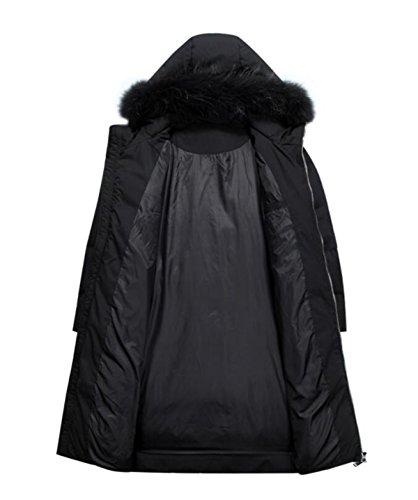 Down Black Jacket Long Thickening LINYI XXXXL Men's Zx0qTvf