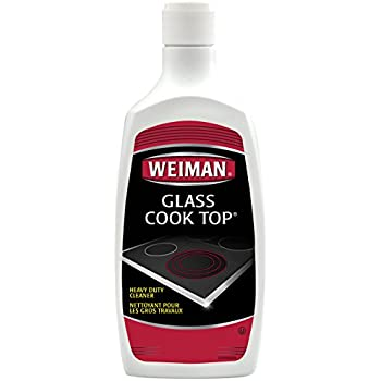Cooktop Cleaner and Polish by Weiman - Heavy Duty, No Scratch, Glass-Ceramic Safe, Non-Abrasive, 18 fl oz