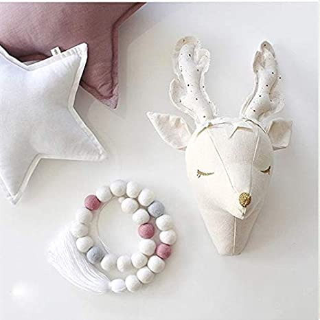 Buy Nefficar Baby Room Decoration Deer Plush Toy Wall Trophy Items