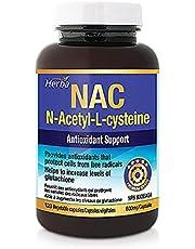 Herba NAC Supplement 600 mg - Antioxidant Immune System Support N-Acetyl-L-Cysteine Supplement for Improving Glutathione Levels - Gluten Free - 120 Veggie Capsules