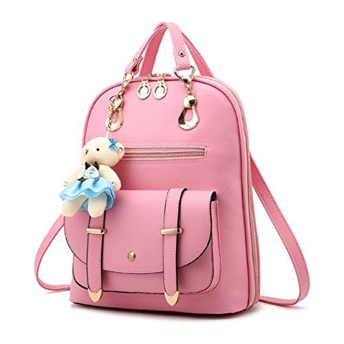 Dello Girl Del Tracolla Zaino Le Fashion Borsa Rosa Cuoio Donne A Viaggio Sintetico Di Scuola vwwaA5Tq