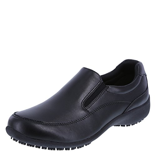 safeTstep Slip Resistant Women's Black Women's Kelly Slip-On 9 Wide by safeTstep