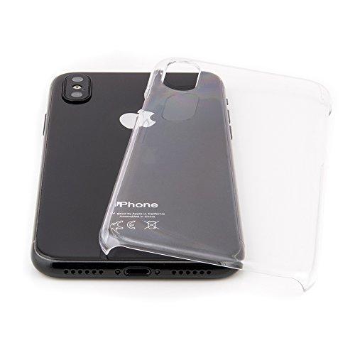 """Hülle für iPhone X (5,8"""") Ultra Thin Case Crystal - voll durchsichtige transparente extrem dünne Tasche für Apple iPhone 10 Schutzhülle Slim Bumper Cover von QUADOCTA - Idealer Schutz für Spacegrau un"""