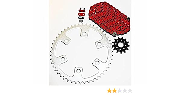 CALTRIC Red Drive Chain and Sprocket Kit Fits HONDA CRF450R CRF450RX 2004-2018