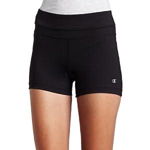 Champion Women's Absolute Workout Short,Black,Medium