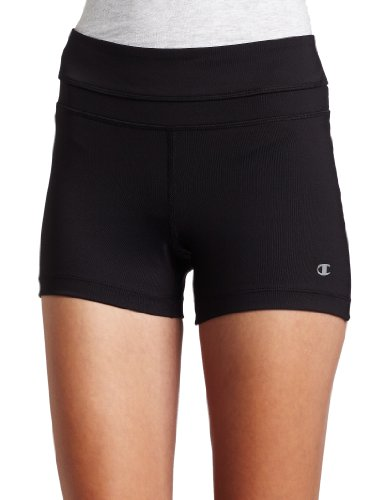 Champion Women's Absolute Workout Short,Black,Medium