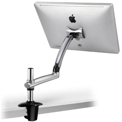 Cotytech Expandable Apple Desk Mount Spring Arm Clamp Base - Silver by Cotytech