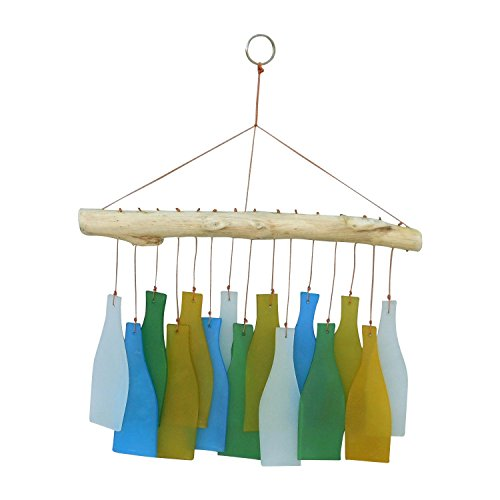 Wisdom Arts #7002 Glass and Driftwood Wind Chime -