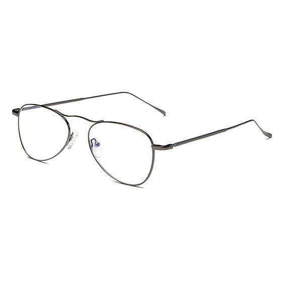 Gafas Anti Luz Azul - Marco de Metal Transparentes Lentes Aviador Anteojos para Computadora/Teléfono móvil/Televisión Unisexo Cm1roa2JYO