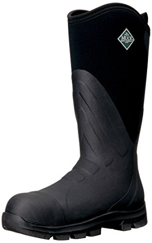 Steel Toe Rain Boots (Muck Boot Men's Muck Grit Steel Toe Work Boot, Black, 10 US/10-10.5 M US)