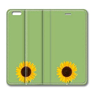 VUTTOO iPhone 6 plus Case, iPhone 6 plus Case - PU Leather Flip Folio Wallet Case Cover for iPhone 6 Sunflower Perfect Fit Flip Folio Leather Cases for iPhone 6 plus 5.5 inch