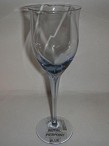 Noritake Royal Pierpoint Blue Water Goblet -