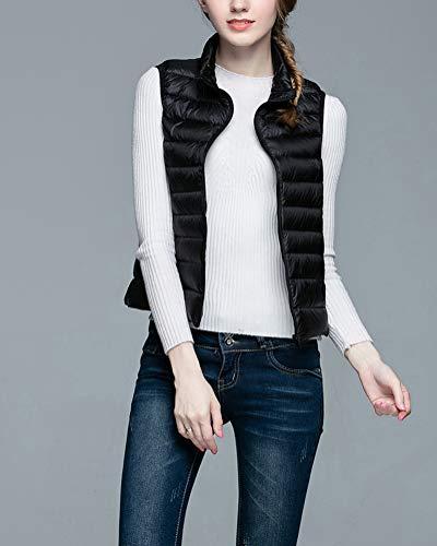 Suncaya Light Coat Ultra Down Gilet Vest Packable Jacket Puffer Women's Weight Black trXYqr