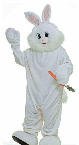 White Plush Bunny Mascot