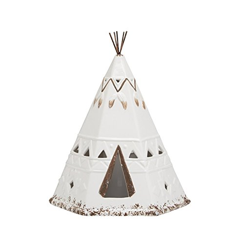 - Two's Company Teepee Lantern - LED Lighted - Plains First Nations Home Decor