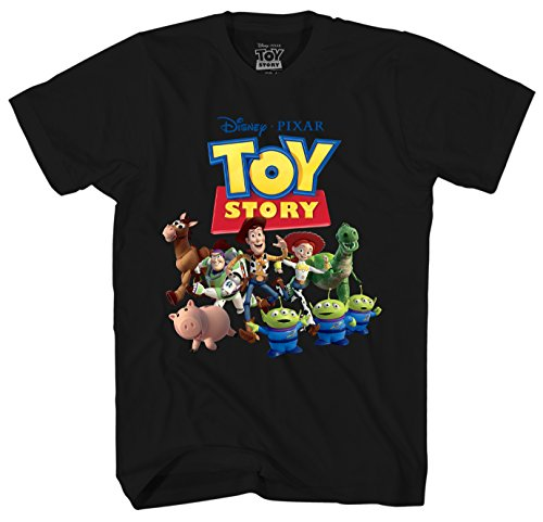 Disney Toy Story Woody's Posse Men's Adult Graphic Tee T-Shirt (Black, X-Large) ()