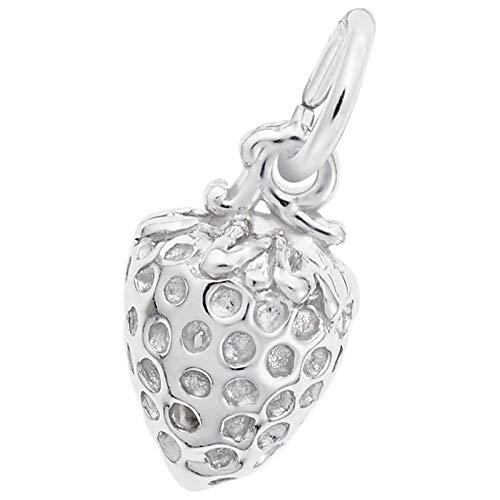 Rembrandt Charms Strawberry Charm, 14K White Gold