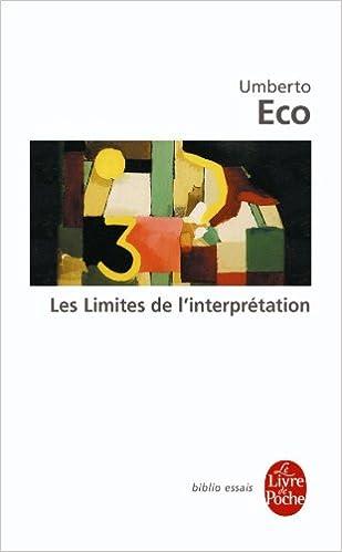 Lire Les limites de l'interprétation pdf