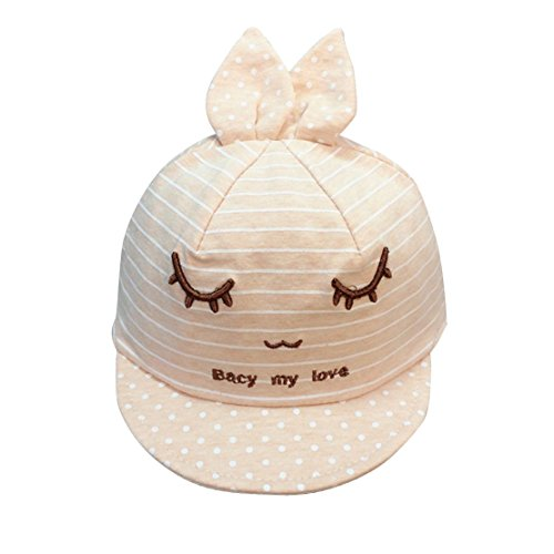 Baby Hats With Ears Baseball Cap Baby Boys Girls Sun Hat (Beige) - 6