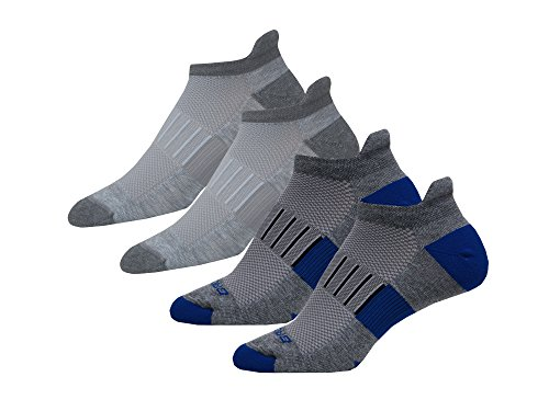 Brooks Ghost Midweight 4 pack socks Hgry/Mara-Oxfd/Asphalt size large