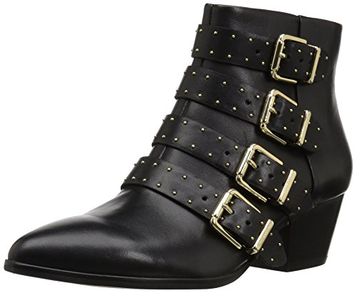 The Fix Women's Hazel 4-Buckle Strap Ankle Boot, Black, 8.5 B - Ladies Boots Designer