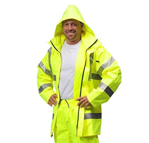 (Galeton 8220320-4XL-LI Illuminator Class 3 High Visibility Breathable 300 Denier Rain Jacket, 4XL, Lime)