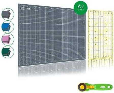 kit tapis de coupe + cutter rotatif + règle patchwork