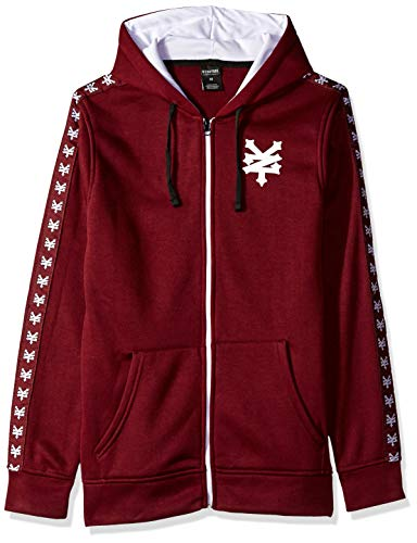 Zoo York Men's Logo Hoody Sweatshirt, Merlot, Medium