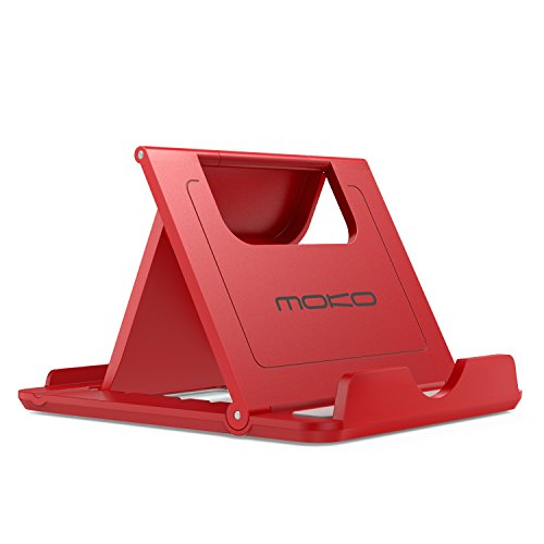 MoKo Cell Phone Stand, Tablet Stand, Universal Foldable Multi-angle Desktop Holder for Smartphone, Tablet(6-11