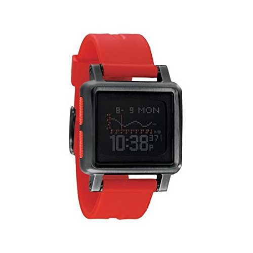 Nixon Housing Watch - Men's All Black/Red, One Size