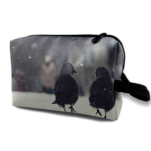 Birds Cosmetic Bags Makeup Organizer Bag Pouch Zipper Purse Handbag Clutch Bag -