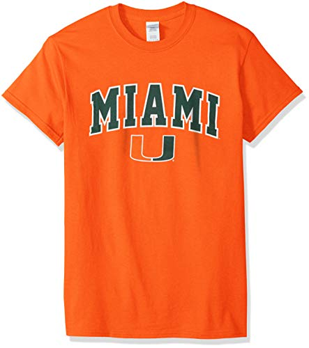 (Elite Fan Shop NCAA Men's Miami Hurricanes T Shirt Team Color Arch Miami Hurricanes Green Small )
