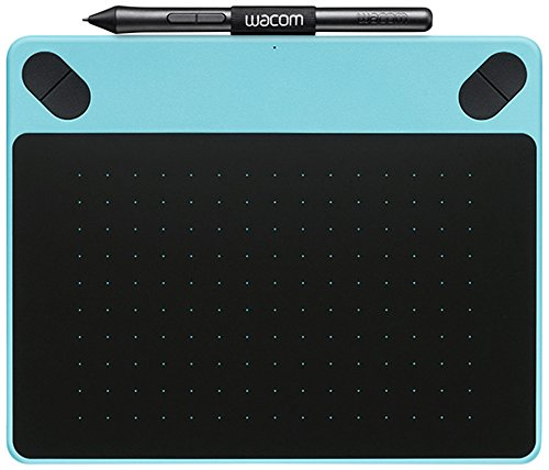 Wacom CTL-490DB-S Intuos Draw Stift-Tablett S (inklusive Softwaredownload von ArtRage Lite) blau