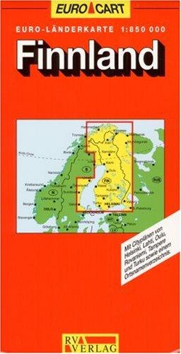RV Euro-Länderkarte 1:750 000 Finnland Landkarte – Folded Map, Juli 1995 RV Verlag Ostfildern 3575332185 Europa
