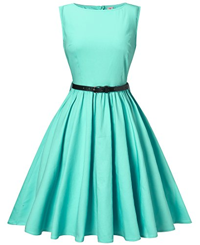 aqua dress - 5