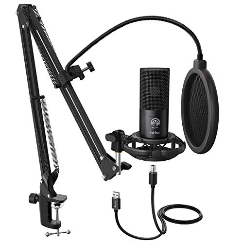 FIFINE Studio Condenser USB Microphone Computer PC Microphone Kit With