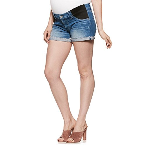 八錆びスプレー(ペイジ) PAIGE レディース ボトムス?パンツ ショートパンツ Jimmy Jimmy Raw Cuff Denim Maternity Shorts [並行輸入品]
