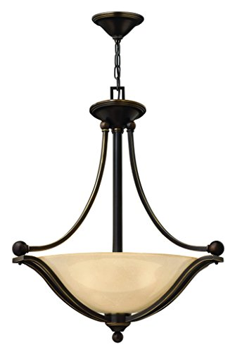 Hinkley 4652OB Traditional Three Light Inverted Pendant from Bolla collection in Bronze/Darkfinish,