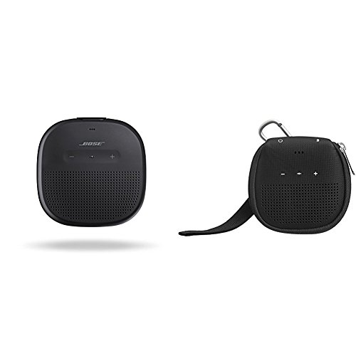 Bose SoundLink Micro Waterproof Bluetooth speaker (Black) with AmazonBasics Case (Black) by AmazonBasics