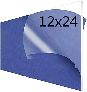 Amazon Com 3mm Clear Lucite Cast Acrylic Sheet 1 8 Thick 12x24 Inch Pack 2 Plexiglass Sheet Perspex Sheet 12 X 24 Panel Plexi Glass Perspex Panel Ideal For General Purpose Household Uses Diy Easy