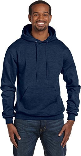 Champion Eco Fleece Pullover Men's Hoodie, XL-Gray Oxford Heather ()