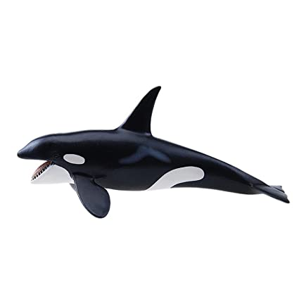Schleich Réplica de Figura de Ballena Orca, color negro con blanco ...
