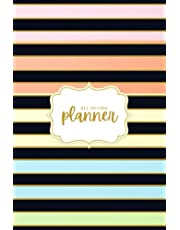 """Multiple Business Planner: Undated Appointment Book Weekly Monthly Yearly Productivity Organizer Daily Schedule and Goal Setting Record Contacts and Passwords Pastel Stripes 6"""" x 9"""" 190 Pages"""