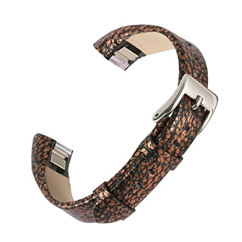 bayite Replacement Leather Watch Bands for Fitbit Alta Pattern C