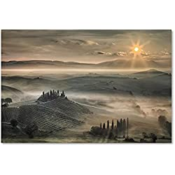Trademark Fine Art Tuscan Morning by Christian Schweiger, 16x24-Inch Canvas Wall Art