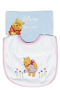 Disney Baby Winnie the Pooh Bib - Girl Varied Prints - One (Pooh Baby Girl)
